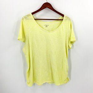 Lane Bryant Yellow Short Sleeve Tee